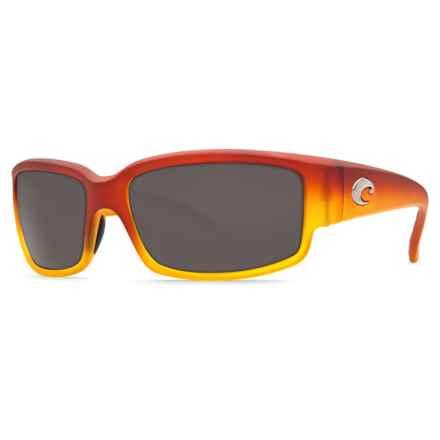 Costa Caballito Sunglasses - Polarized 580P Lenses in Matte Sunset Fade/Grey 580P - Closeouts
