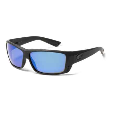 Costa Cat Cay Sunglasses - Polarized, 400G Glass Mirror Lenses in Blackout Blue Mirror - Closeouts