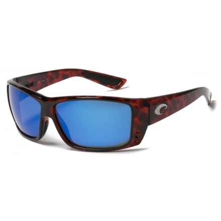 Costa Cat Cay Sunglasses - Polarized 400G Lenses in Tortoise/Blue - Closeouts