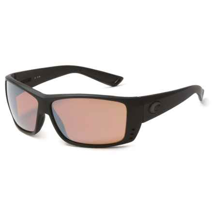 Costa Cat Cay Sunglasses - Polarized 580P Lenses in Blackout/Silver Mirror - Closeouts
