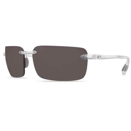 Costa Cayan Sunglasses - Polarized 580P Lenses in Crystal/Gray - Closeouts