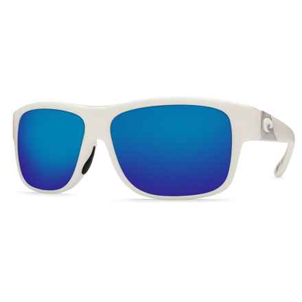 Costa Caye Sunglasses - Polarized 400G Glass Mirror Lenses in White/Blue Mirror 400G - Closeouts