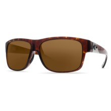 Costa Caye Sunglasses - Polarized 400G Lenses in Tortoise/Dark Amber 400G - Closeouts