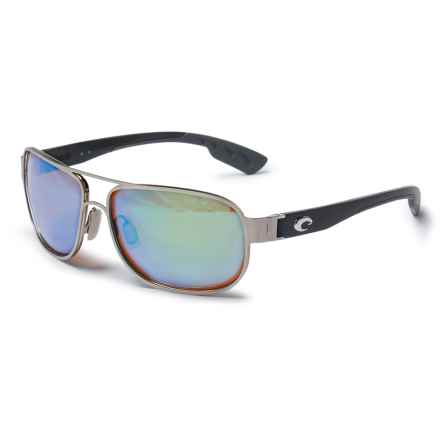 Costa Conch Sunglasses - Polarized 400G Glass Lenses in Palladium/Green Mirror - Overstock