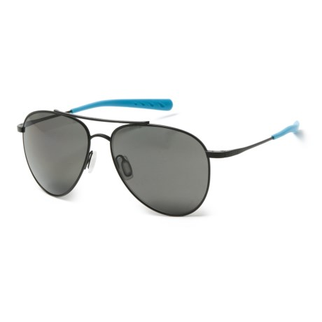 Costa Cook Sunglasses - Polarized 400P Lenses in Satin Black Ocearch/Gray