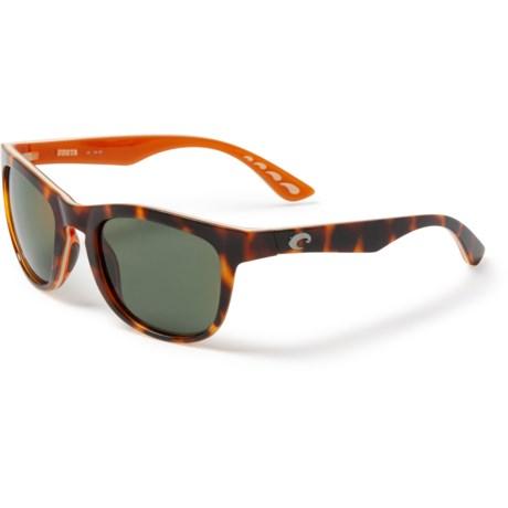 81a98a9108 Costa Copra Sunglasses - Polarized 580G Glass Lenses in Shiny Retro Tortoise  Cream Salmon