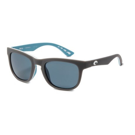 54b1eea717c Costa Copra Sunglasses - Polarized 580P Lenses in Mountain Gray White Eagle  Gray