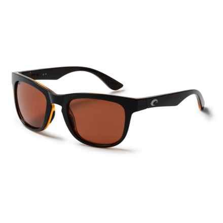 Costa Copra Sunglasses - Polarized 580P Lenses in Shiny Black/Amber/Copper - Closeouts