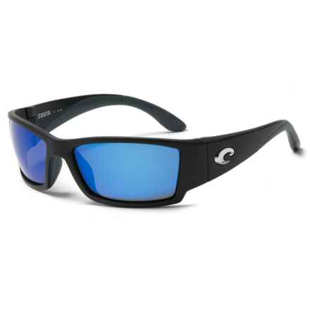 Costa Corbina Sunglasses - Polarized 400G Lenses in Black/Blue Mirror - Closeouts