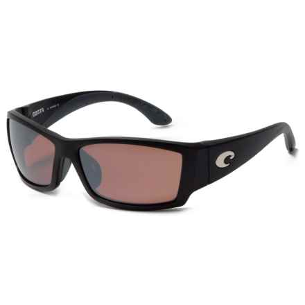 Costa Corbina Sunglasses - Polarized 580P Mirror Lenses in Matte Black Global Fit/Silver Mirror - Closeouts