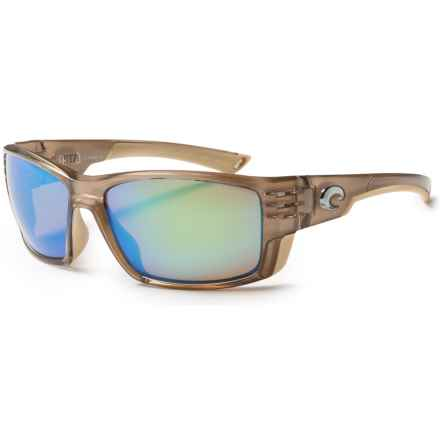 Costa Cortez Sunglasses - Polarized 400G Glass Mirror Lenses in Crystal Bronze/Green Mirror - Closeouts
