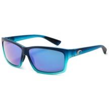 Costa Cut Sunglasses - Polarized 400G Glass Mirror Lenses in Matte Caribbean Fade/Blue Mirror - Closeouts