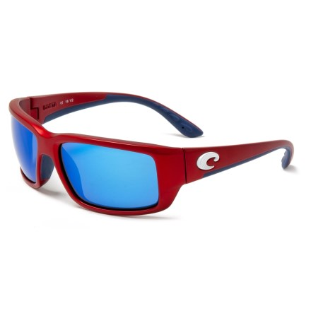 722bfc030a56 COSTA DEL MAR Fantail Sunglasses - Polarized 400G Glass Mirror Lenses in  Usa Red Blue