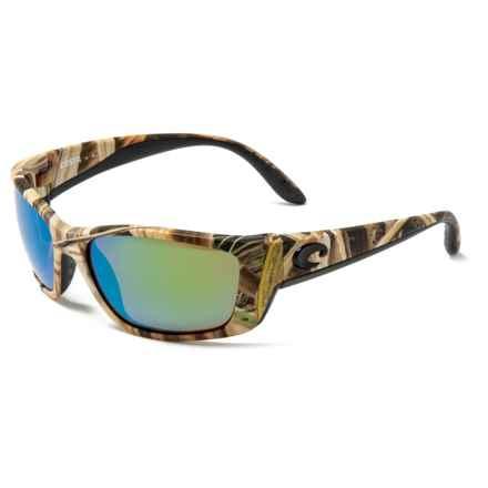 1b145618b517 COSTA DEL MAR Fisch Sunglasses - Polarized 580G Glass Mirror Lenses in Mossy  Oak Shadow Grass