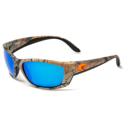 25c1a518342f1 COSTA DEL MAR Fisch Sunglasses - Polarized 580G Glass Mirror Lenses in  Realtree Xtra Camo