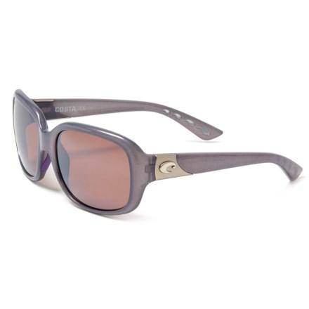 93d200fcd397d COSTA DEL MAR Gannet Sunglasses - Polarized 580P Lenses (For Women) in  Shiny Sea
