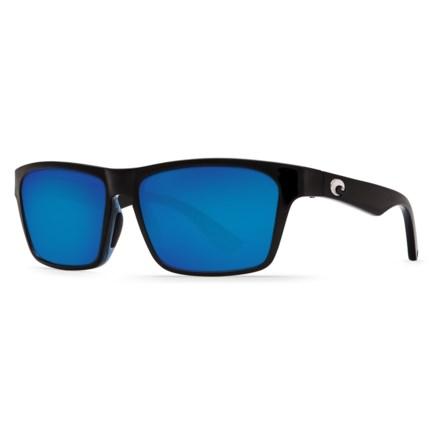 9caea98a26 COSTA DEL MAR Hinano Sunglasses - Polarized 580P Mirror Lenses in Shiny  Black Blue