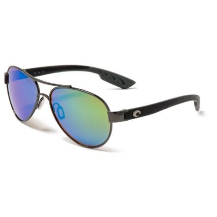 3c20d10f3bbcf COSTA DEL MAR Loreto Mirror Sunglasses - Polarized 580G Glass Mirror Lenses  in Gunmetal Black