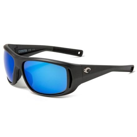 fedf89df985fa COSTA DEL MAR Montauk Sunglasses - Polarized 400G Glass Mirror Lenses in  Matte Steel Blue