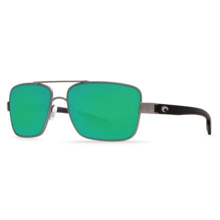 f6c3c8fd789 COSTA DEL MAR North Turn Sunglasses - Polarized 580G Mirror Lenses in  Gunmetal Matte Black