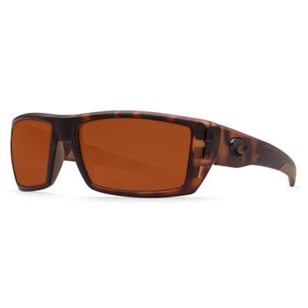 8f1fda5ba97a6 COSTA DEL MAR Rafael Sunglasses - Polarized 580P Lenses in Matte Retro  Tortoise Copper