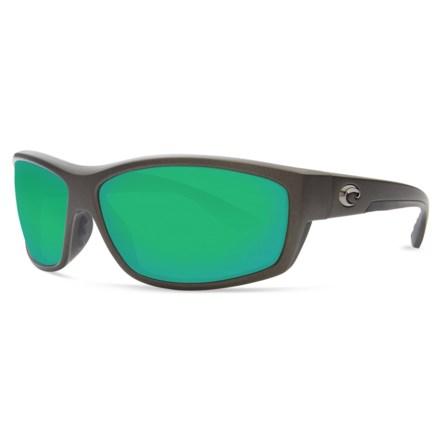 c7e542788fc9f COSTA DEL MAR Saltbreak Sunglasses - Polarized 400G Glass Mirror Lenses in  Matte Steel Green