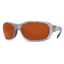 Costa Del Mar Tag Sunglasses - Polarized 580P Lenses in Silver/Copper 580P - Closeouts