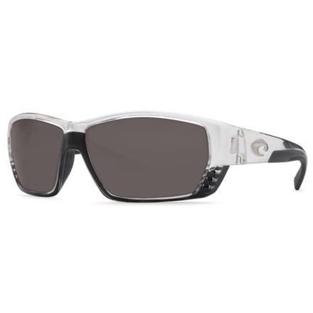e2cab29d384 COSTA DEL MAR Tuna Alley Sunglasses - Polarized 580P Lenses in Crystal Gray