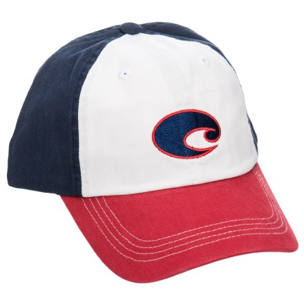 dd0a70c82a Clearance. Costa Del Mar Twill Baseball Cap (For Men) in Red White Blue