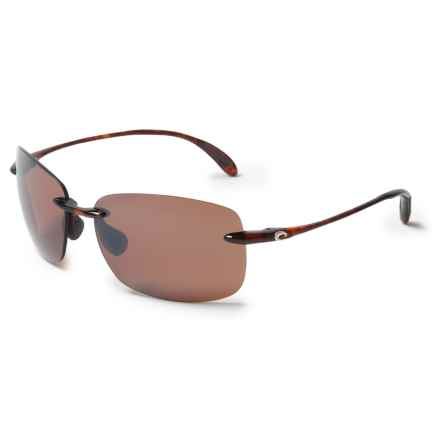 Costa Destin Sunglasses - Polarized 580P Mirror Lenses in Tortoise/Silver Mirror - Closeouts