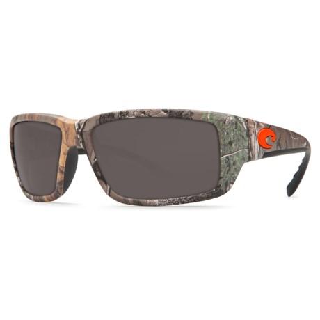 bfbe1fa228d2 Costa Fantail Sunglasses - Polarized 580G Glass Lenses in Realtree Xtra Camo /Gray