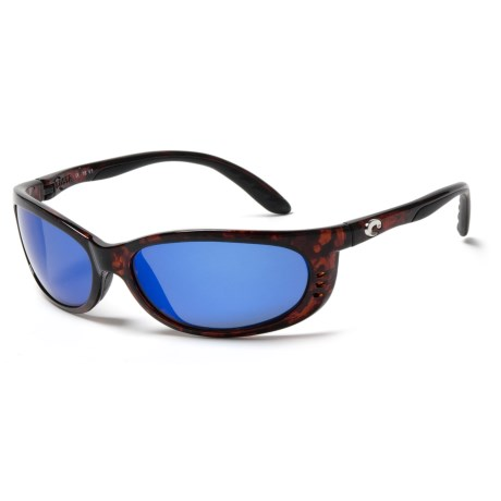 Costa Fathom Sunglasses - Polarized 400G Glass Lenses in Tortoise/Blue