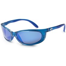 Costa Fathom Sunglasses - Polarized 400G Glass Mirror Lenses in Sky/Blue Mirror - Closeouts