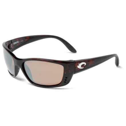 Costa Fisch Sunglasses - Polarized 580G Glass Lenses (For Men) in Tortoise/Silver