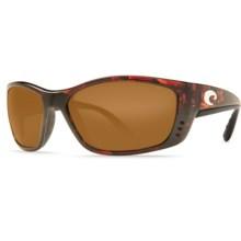 Costa Fisch Sunglasses - Polarized 580P Lenses in Tortoise/Amber - Closeouts