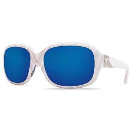 048cbed7007 Costa Gannet Sunglasses - 580P Polarized Mirror Lenses (For Women) in Matte  Seashell/