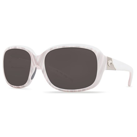 2f049d64a4 Costa Gannet Sunglasses - 580P Polarized Mirror Lenses (For Women) in Matte  Seashell