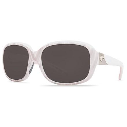 b759ebb34f Costa Gannet Sunglasses - 580P Polarized Mirror Lenses (For Women) in Matte  Seashell