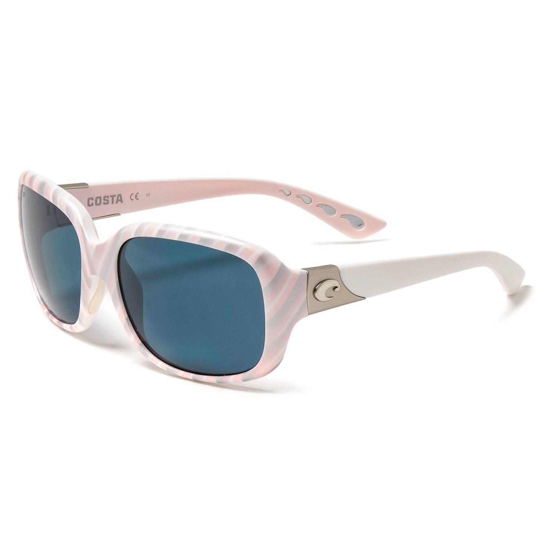 4ec7ba785faf Costa Gannet Sunglasses - Polarized 580P Lenses (For Women) in Matte  Seashell/Gray ...