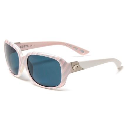 02b0c32ce14 Costa Gannet Sunglasses - Polarized 580P Lenses (For Women) in Matte  Seashell/Gray