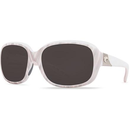 4a30f67539cbc Costa Gannet Sunglasses - Polarized 580P Lenses (For Women) in Matte  Seashell Gray