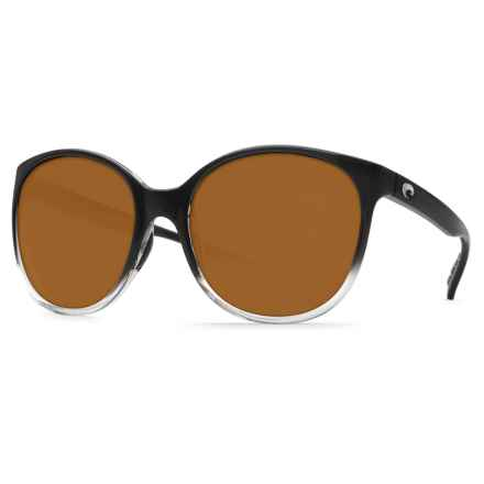 Costa Goby Sunglasses - Polarized 580P Lenses (For Women) in Black Fade/Amber - Closeouts