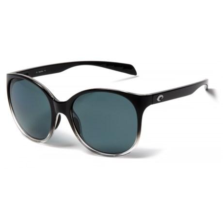 Costa Goby Sunglasses - Polarized 580P Lenses (For Women) in Black Fade/Gray