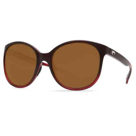Costa Goby Sunglasses - Polarized 580P Lenses (For Women) in Pomegranate Fade/Amber - Closeouts