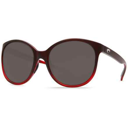 Costa Goby Sunglasses - Polarized 580P Lenses (For Women) in Pomegranate Fade/Gray - Closeouts
