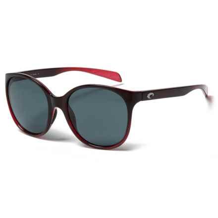 Costa Goby Sunglasses - Polarized 580P Lenses (For Women) in Pomegranate Fade Gray - Closeouts