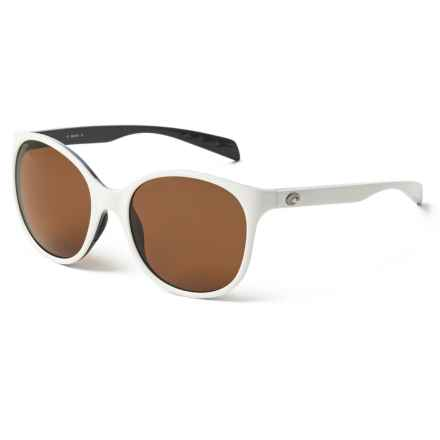 Costa Goby Sunglasses - Polarized 580P Lenses (For Women) in White/Black Amber - Closeouts