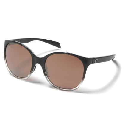 Costa Goby Sunglasses - Polarized 580P Mirror Lenses (For Women) in Black Fade/Silver Mirror - Overstock