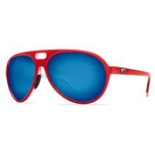 Costa Grand Catalina Sunglasses - Polarized 400G Mirror Glass Lenses in Red/White/Blue Mirror 400G - Closeouts