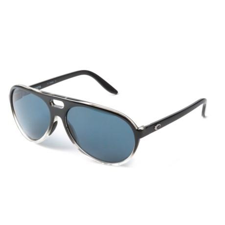 Costa Grand Catalina Sunglasses - Polarized 580P Lenses (For Women) in Black Dark Gray